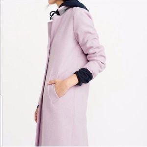 Abercrombie & Fitch Wool Dad Coat in Lilac